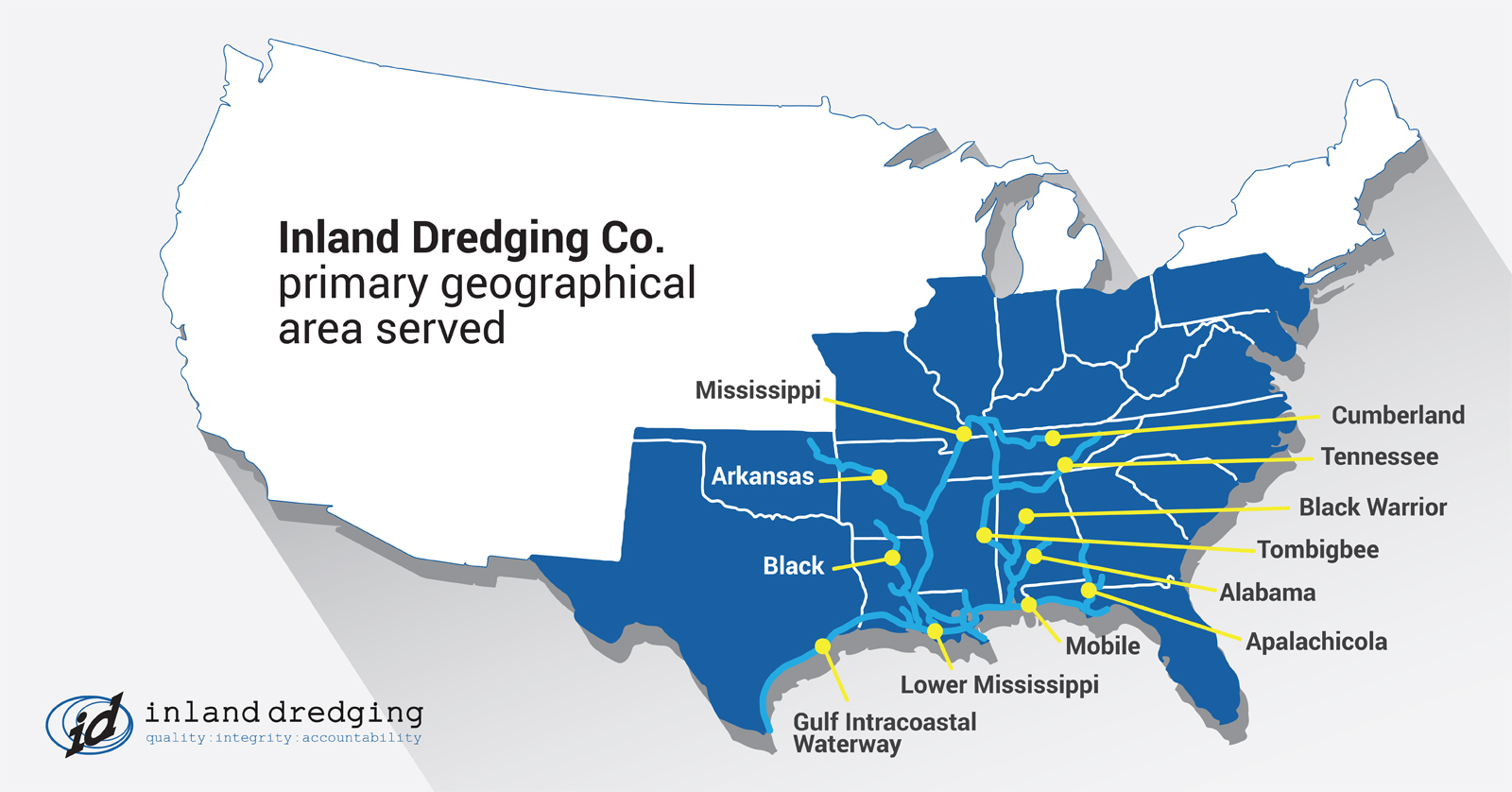 inland dredging map of service